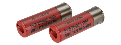 Tokyo Marui 30rd Shotgun Shells for TM Style Airsoft Shotguns - Pack of 2  Red