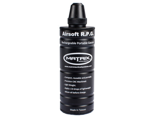 Matrix Airsoft Compact R.P.G. Rechargeable Portable Gas Can