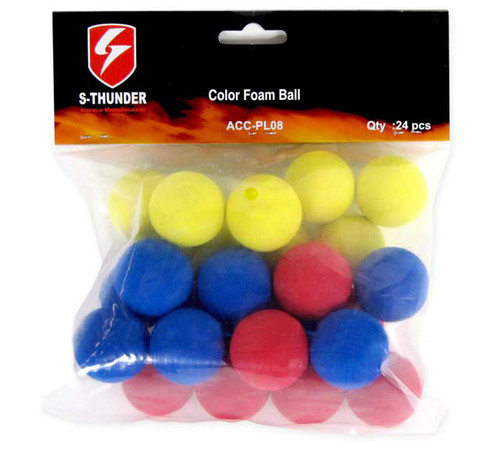 S-Thunder 33mm Foam Ball for S-Thunder Airsoft 40mm M203 Grenade Shells (24 pieces)