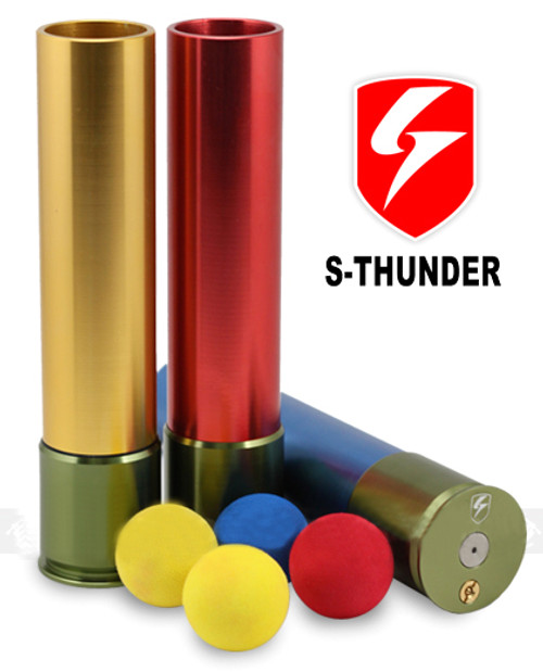 """S-Thunder """"Loudest"""" Foam Ball 40mm Airsoft Gas Grenade - Long Type (One)"""