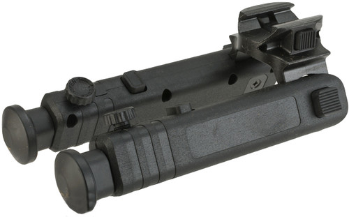 Matrix Compact Collapsible Polymer Bipod for Airsoft Rifles - Black