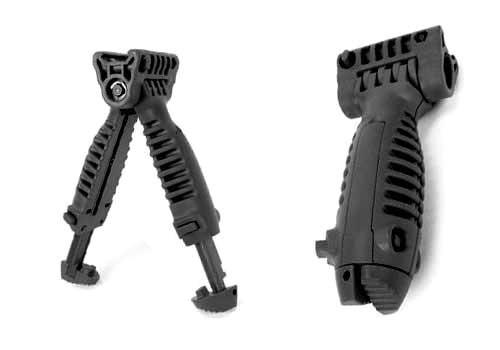 Matrix SB Type Vertical Bipod Grip for Airsoft Rifles (Black)