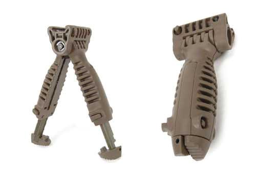 Matrix SB-Type Vertical Bipod Grip for Airsoft RIS AEG Rifles (Dark Earth)