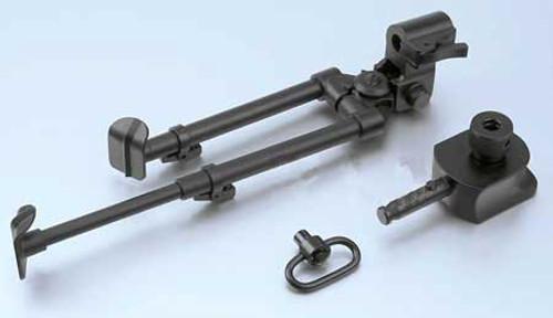 AGM Samurai V-Grooved Multi Purpose Steel Bipod for Airsoft Sniper Rifles
