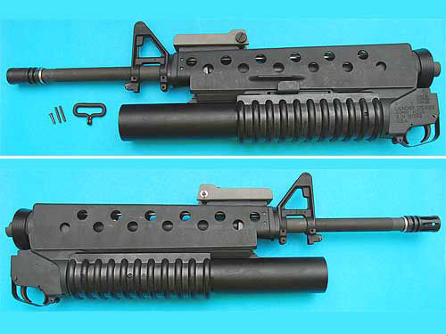 """G&P Airsoft M16 """"Scar Face"""" Conversion Kit w/ M203 Gas Grenade launcher"""