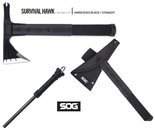 SOG SK1001 Survival Hawk w/Nylon Sheath