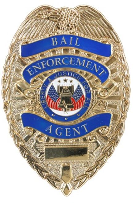Badge - Gold Deluxe Bail Enforcement Agent