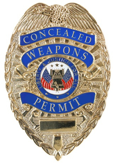 Badge - Gold Deluxe Concealed Weapons Permit