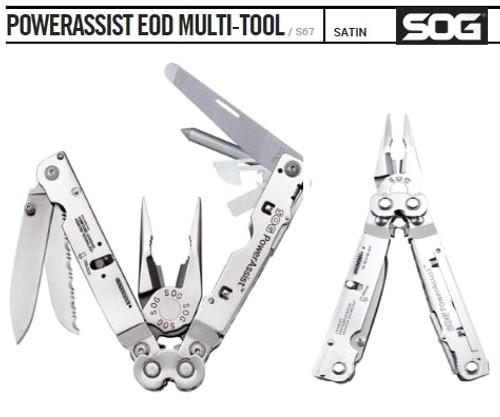 SOG Multitool PowerAssist S67N EOD w/Nylon Sheath