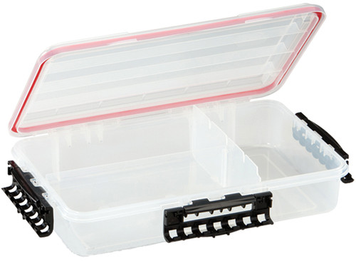 Plano Waterproof Stowaway-« Clear Storage Utility 3700 Size Divided Box - 1 to 3 Compartment