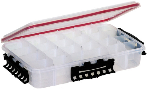 Plano Waterproof Stowaway-« Clear Storage Utility 3700 Size Divided Box - 4 to 15 Compartment