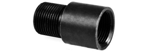 Matrix CNC 14mm Negative (-) to 14mm Positive (+) Flashhider  Barrel Adapter for Airsoft AEG