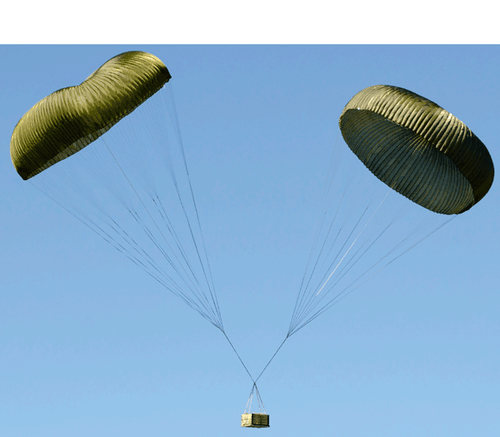 U.S. Armed Forces 100' Olive Drab Cargo Parachute - NEW