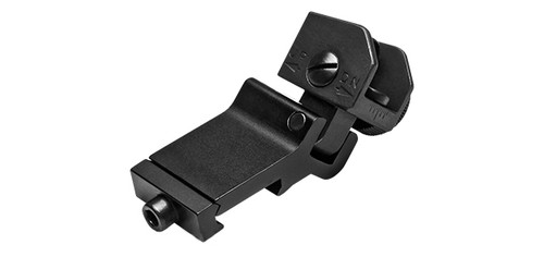 NcSTAR Tactical 45 Degree  One O'Clock Off-Set Rear Flip-Up Iron Sight - Black