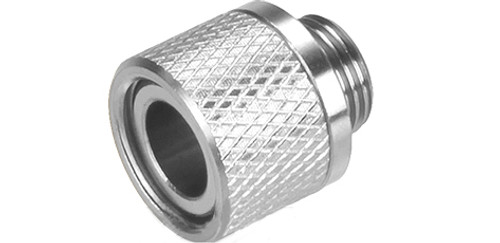 UAC Stainless Steel Threaded Silencer Adapter (11mm to 14mm) - Silver