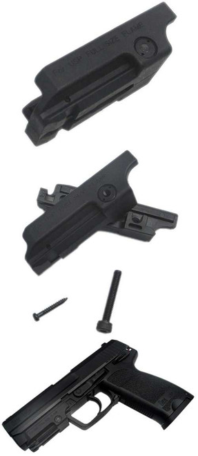 Matrix Laser / Lumination Mount for USP / KP45 Series Hand Gun (Black)
