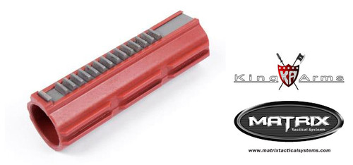 Full Steel Teeth Polycarbonate Piston for Airsoft AEG Gearbox by King Arms  Matrix