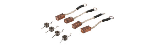 MAG High Silver Content Motor Brushes for System PTW Type Airsoft AEG Motors - Set of 4 w/ Springs