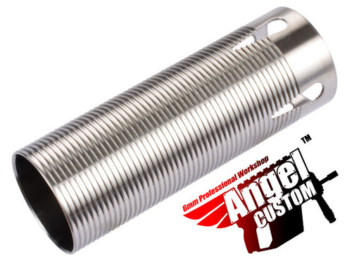Angel Custom CNC Advanced Stainless Ribbed Airsoft AEG Cylinder - 200mm-300mm