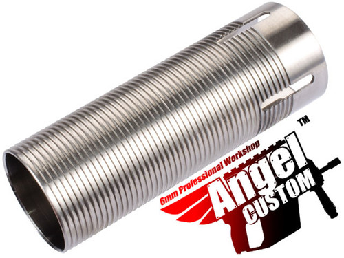 Angel Custom CNC Advanced Stainless Ribbed Airsoft AEG Cylinder - 300mm-370mm
