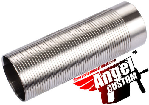 Angel Custom CNC Advanced Stainless Ribbed Airsoft AEG Cylinder - Full Length