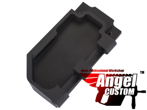 Angel Custom CNC Aluminum Reinforced WE SCAR Hinge Plate - Black