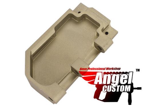 Angel Custom CNC Aluminum Reinforced WE SCAR Hinge Plate - Dark Earth