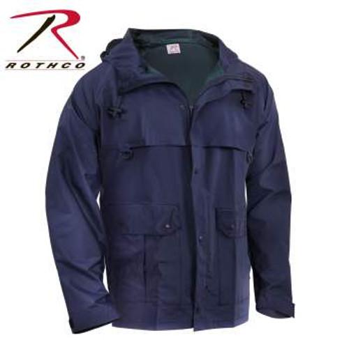 Rothco Microlite Rain Jacket - Navy Blue