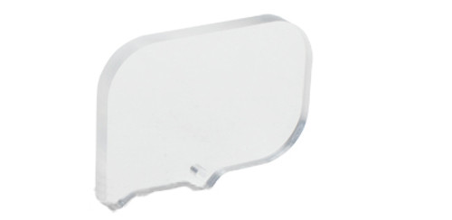 SPEED Airsoft Square Optic BB Shield - Horizontal Rectangle