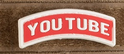 "Keyboard Warrior ""YouTube"" Tab - PVC Morale Patch"