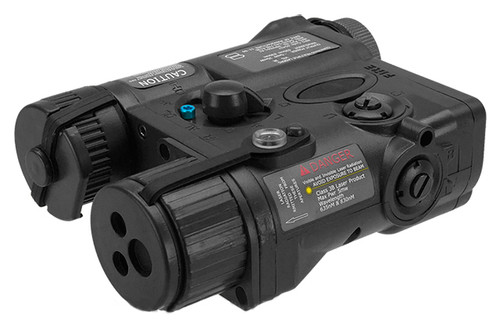 Element AN/PEQ-16A Style Airsoft LED Illuminator & Laser Combo - Black