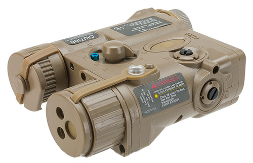 Element AN/PEQ-16A Style Airsoft LED Illuminator & Laser Combo - Tan