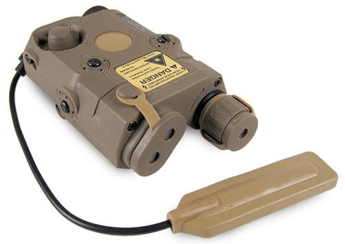 Matrix PEQ-15 Type Laser/Flashlight Combo w/Remote Pressure Switch - Dark Earth
