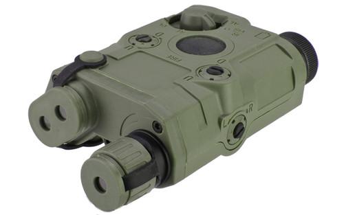 Matrix PEQ-15 Type Laser / Flashlight Combo w/ Remote Pressure Switch - Red Laser / OD Green