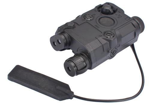 Matrix PEQ-15 Type Laser & Flashlight Combo w Remote Pressure Switch (Green Laser / Black)