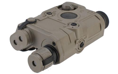 Matrix PEQ-15 Type Laser & Flashlight Combo w Remote Pressure Switch (Green Laser / Dark Earth)