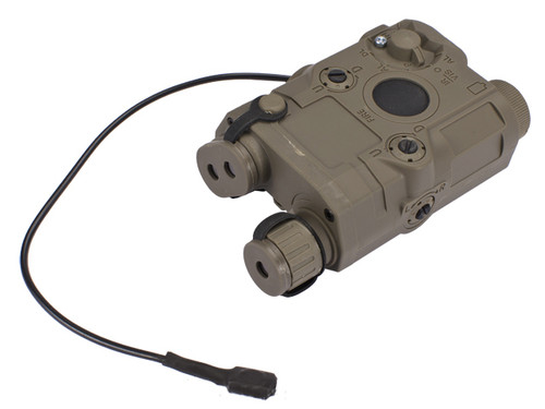 Matrix PEQ-15 Battery Box w/ Laser System for Airsoft AEG - Dark Earth / Green Laser