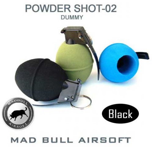 Mad Bull Real Size Airsoft Dummy Grenade (Black)
