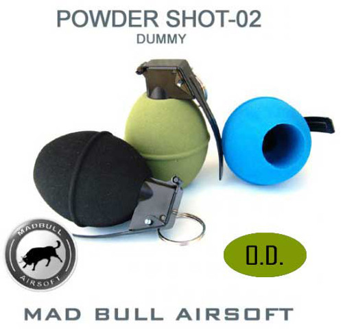 Mad Bull Real Size Airsoft Dummy Grenade (OD)
