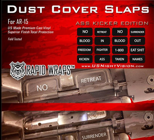 US NightVision Rapid Wraps™ Dust Cover Slaps - AR-15 A Kicker Edition
