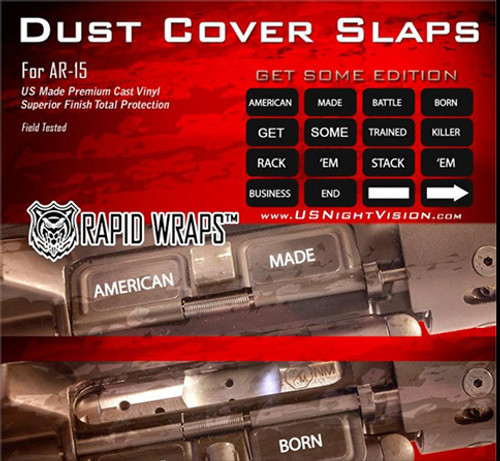 US NightVision Rapid Wraps™ Dust Cover Slaps - AR-15 Get Some Edition