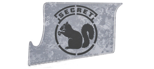 US NightVision Rapid Wraps™ Mil Spec Monkey Magwell Slaps - Secret Squirrel (Gun Metal Black)
