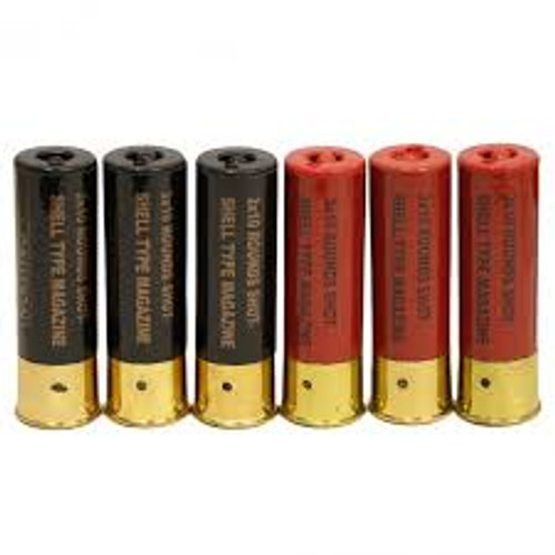 High-Cap 30 Round Shells for UTG/Marui/DE M3 Multi & Single-Shot Airsoft Shotguns - Set of 6