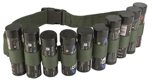Enola Gaye Hang Ten Belt / Bandolier for Airsoft Smoke Grenades - OD