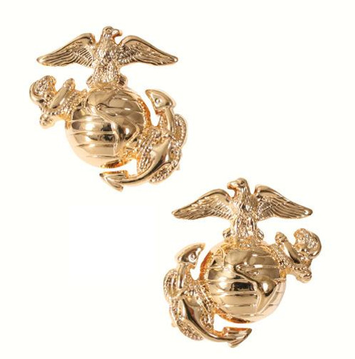 Pin - Marine Corp Globe & Anchor Insignia Polished