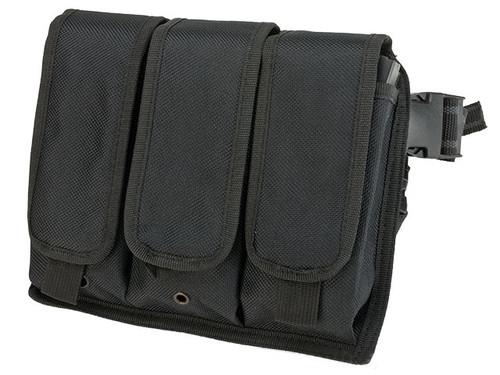 Matrix Tactical Drop Leg Triple Magazine Pouch Leg Platform - Black