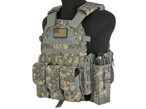 Avengers 6D9T4A Tactical Vest with Magazine and Radio Pouches - ACU