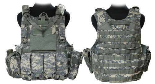 Phantom CORDURA 1000 Denier Force Recon Tactical Vest Full Set (ACU / Large)
