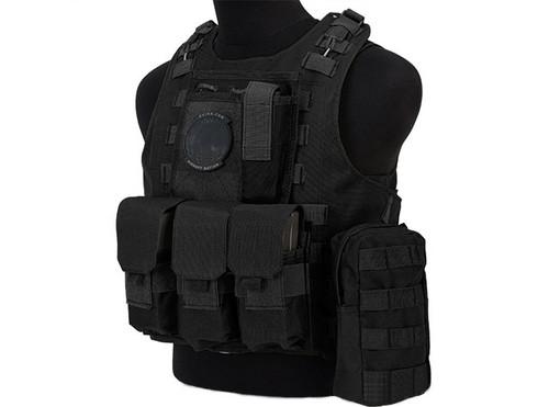 Avengers Military Style MOD-II Quick Release Body Armor Vest - Black