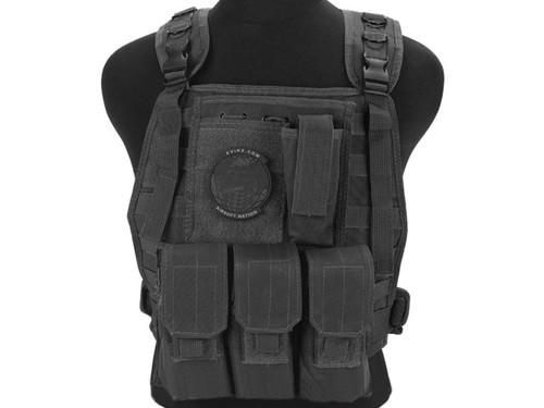 Avengers Tactical Spec. OPS MOLLE Plate Carrier / Load Bearing Vest (Color: Black)